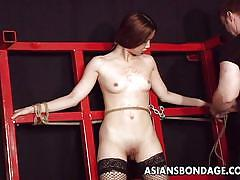 Asian slut bounded and tortured