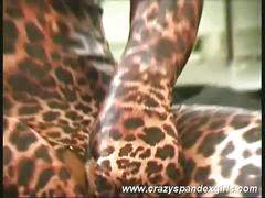 Sexy susi, the tiger-woman shows her clit