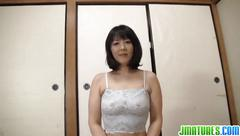 Lusty mature gives him a very warm blowjob pov