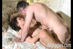 Mature couple makes a home made video
