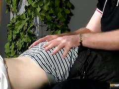 Naughty boy kai punished and jerked