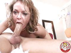 Kelly leigh swallows a cock
