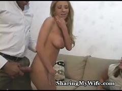Super-sized cock splits tight wife