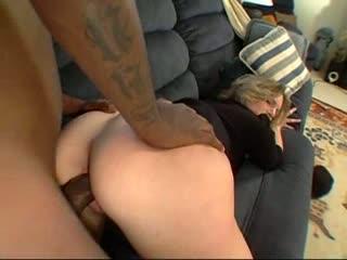 Blonde, tatoo, busty, hairy, milf loves big cock