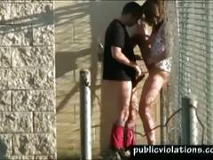 amateur, brunette, outdoor, publicviolations.com, face-fuck, couple, outdoors, public, homemade
