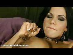 Angelina castro puts dildo in her tight latin pussy