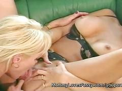 Blonde busty milf houston with sexy blonde kitten