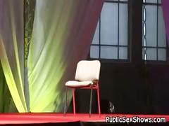 Crazy amateur video exposing hot live sex show