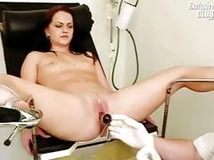Rhoda visits pussy doctor for speculum examination