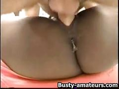 Ebony sierra blows and riding cock
