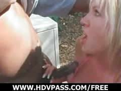 Interracial deep throat encounter!