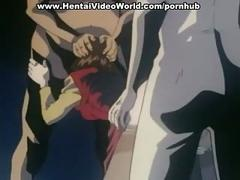 Hentai girlie caught and fucked by strangers