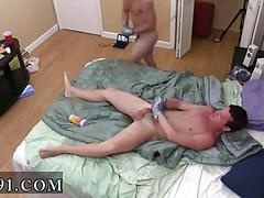 Dudes are into some funny stuff naked in bed with feet