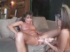 lesbian, milf, reality, pornstar, toys, brunette, mommylovespussy.com, girl-on-girl, kissing, dildo, fingering, strap-on