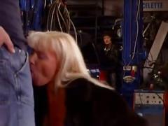 Milf gets fucked in the repair shop