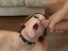 Four guys and big load of cum on her face