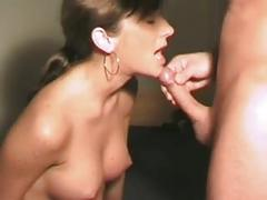amateur, brunette, blowjob, homemade, horny, cumshot, ass-fuck, swallow, booty