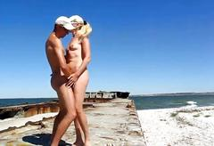 Beach loving couple is having nasty sex outdoors