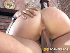 Sexy short haired blonde ass drilled