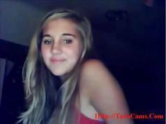 Blond sweet girl on cam