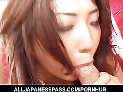Hatsumi kudo in skull stockings rides a horny mouth leaving it co