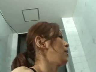 Asian black swimsuit sex