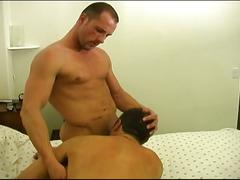 Muscled studs hot rimming and fucking