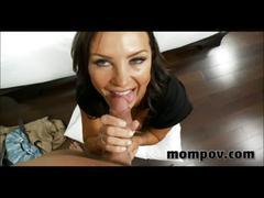 Sexy big tit milf banging big young cock