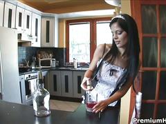 Black angelika one hot sexy maid