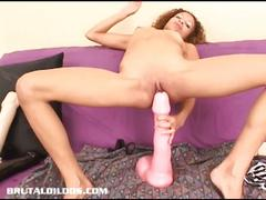 Cassie and her giant dildo