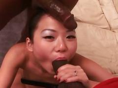 Niya yu's black gangbang - anal and facials!