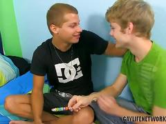 Candy and cock eating twinks anthony and blade