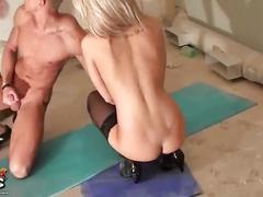 Hot russian babe in triple hardcore action