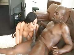 Exotic brunette angelica heart gets fucked hard by a big black dick