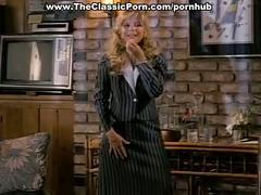 Blonde secretary fucking boss in reverse
