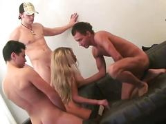 Hot blonde in hardcore action
