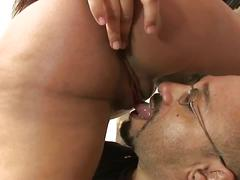 Big black cocks screwing holes of pregnant slut