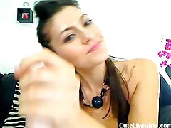 Watch this hot brunette fingering her pussy5.flv