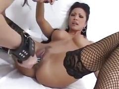 Fetish lesbians dildo fuck each other