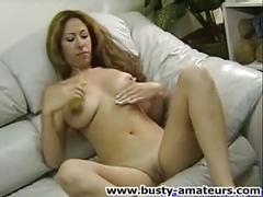 Big tits lilliana jerksoff her pussy with dildo