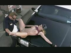 Horny policeman in hot sex action with hot blonde