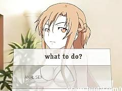 Sword art hentai - asuna play mode