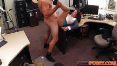 Cheating milf fucks a kinky pawn shop owner
