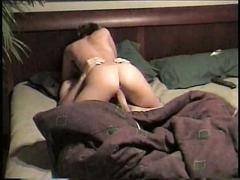 Amateur couple in homemade sex video