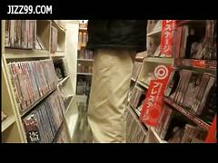Schoolgirl staff fucked in comic book shop when in...