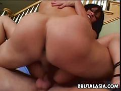 Hot 3some for her pussy and her ass fits perfectly