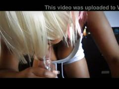 Black couple pov blow job