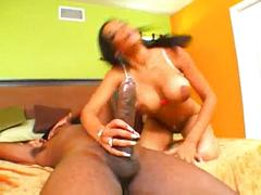 Havana ginger ravaged by big black cock