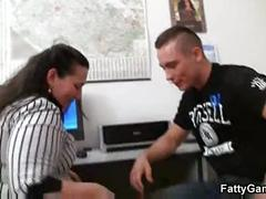 Great sex with office fatty