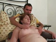 Injured grandma gets healed by dick